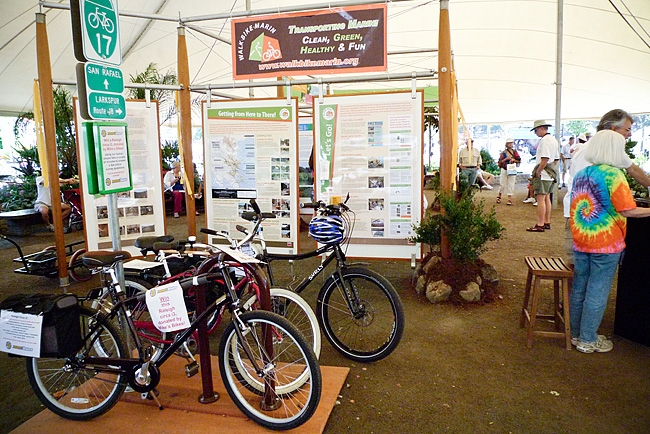 WalkBikeMarin Display at Marin County Fair